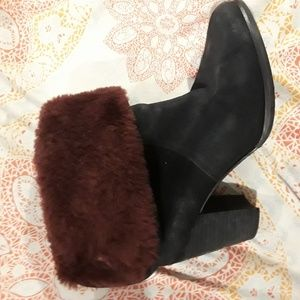 Amazing ugg boots with heel and fur inside